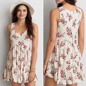 American Eagle | Tiered Floral Babydoll Dress
